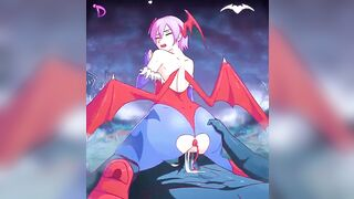 Lilith riding demon cock - Monster Girl