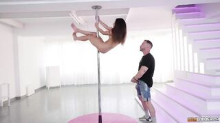 Liv knows how to work the pole