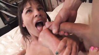 Licking Cummy Feet: Dana DeArmond Gets Him