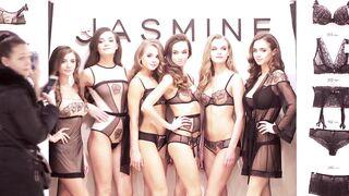 Models getting photographed - Jasmine Lingerie - Kiev Fashion Show - Lingerie