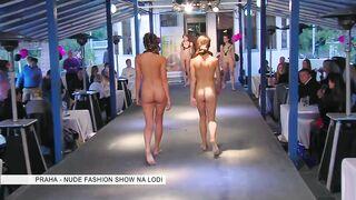 Nude Fashion Show - Women Leaving
