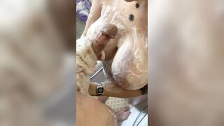 Our first shower video! Soapy shower handjob up on Manyvids now!! - Lydiagh0st