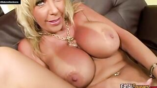 Busty mature fucked hard from behind