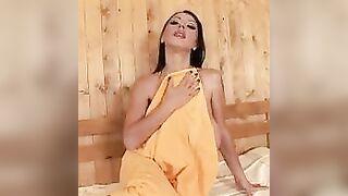 Is It Hot in the Sauna, or is it Just Her? - Merilyn Sakova